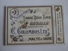 Pachet gol(fara sertar) colectie  tigari Egiptene Cavalla din anii 30 foto