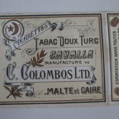 Pachet gol(fara sertar) colectie tigari Egiptene Cavalla din anii 30 - Pachet tigari