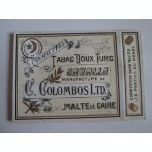 Pachet gol(fara sertar) colectie  tigari Egiptene Cavalla din anii 30