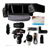 Canon 450D + obiectiv de kit 18-55mm + obiectiv TAMRON 70-300mm+ accs.