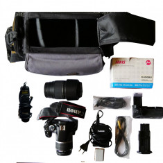 Canon 450D + obiectiv de kit 18-55mm + obiectiv TAMRON 70-300mm+ accs. - Aparat foto DSLR