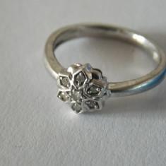 Inel de argint cu diamante-3018 - Inel argint