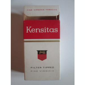 Pachet gol colectie 10 tigari Kensitas fabricate in Anglia anii 50