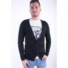 Cardigan Selected Reverse Negru - Pulover barbati Selected, Marime: S