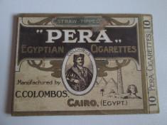 Pachet gol(fara sertar) colectie  10 tigari Egiptene Pera din anii 30 foto