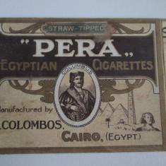 Pachet gol(fara sertar) colectie 10 tigari Egiptene Pera din anii 30 - Pachet tigari