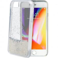 Husa Protectie Spate Celly STAR800WH Star Glitter Argintiu pentru Apple iPhone 7, iPhone 8 - Husa Telefon