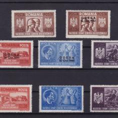 ROMANIA 1941 LP 146 I LP 146 III FRATIA DE ARME ROMANO-GERMANA SERII MNH - Timbre Romania, Nestampilat