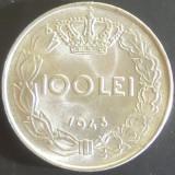 Moneda 100 Lei - ROMANIA, anul 1943 *cod 5117 UNC + EROARE / SURPLUS - Moneda Romania