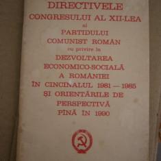 RWX 20 - DOCUMENTE ALE PARTIDULUI COMUNIST ROMAN - 1979 - PIESA DE COLECTIE! - Carte Epoca de aur
