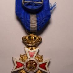 Ordinul Coroana Romaniei Ofiter Militar pe timp de Pace Model 2 RARA