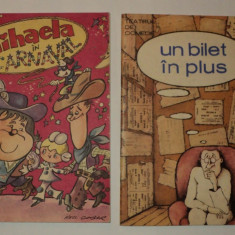 LOT 2 volume caricaturi: Mihaela in carnaval, Un bilet in plus, Nell Cobar+altii - Almanah