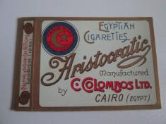 Pachet gol(fara sertar) litho colectie  tigari Egiptene Aristocratic din anii 30 foto