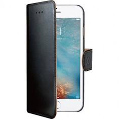 Husa Flip Cover Celly WALLY800 Agenda Negru pentru Apple iPhone 7 - Husa Telefon Celly, iPhone 7/8