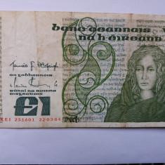 Irlanda 1 pouns 1977-1989 - bancnota europa