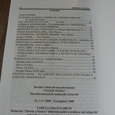 Revista Zborlu a nostru nr 1-2 2009 aromani, aromana - Revista culturale