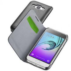 Husa Flip Cover Cellularline BOOKESSGALJ116K Agenda Negru Samsung pentru Galaxy J1 2016 - Husa Telefon