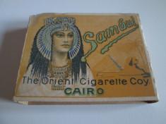 Pachet gol(fara sertar) colectie  tigari Egiptene Sambul din anii 30 foto