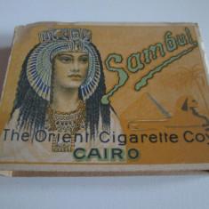 Pachet gol(fara sertar) colectie tigari Egiptene Sambul din anii 30 - Pachet tigari