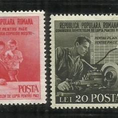 ROMANIA 1950 - LUPTA PENTRU PACE, MNH - LP. 270