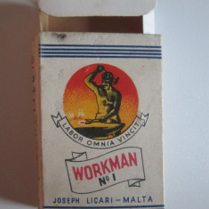 Pachet gol colectie 10 tigari Workman No.1 fabricate in Malta anii 50