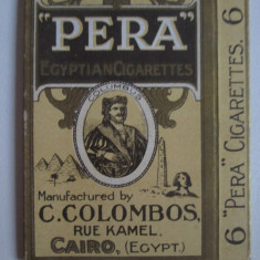 Pachet gol(fara sertar) colectie  6 tigari Egiptene Pera din anii 30