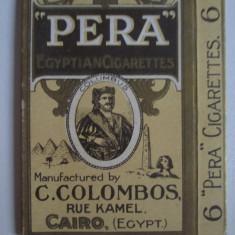 Pachet gol(fara sertar) colectie 6 tigari Egiptene Pera din anii 30 - Pachet tigari