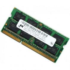 Memorii Laptop SODIMM 2GB DDR3 PC3-8500S/10600S 1066/1333Mhz - Memorie RAM laptop Micron, 1066 mhz