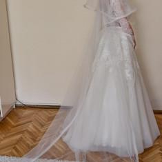 Vand rochie mireasa+voal+cerc+husa MIRANDI INDIRA, Rochii de mireasa A-line