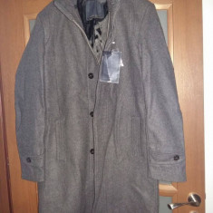 Palton Zara - Palton barbati Bershka, Marime: L, Culoare: Gri