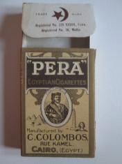 Pachet gol colectie 10 tigari Egiptene Pera din anii 30 foto