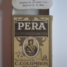 Pachet gol colectie 10 tigari Egiptene Pera din anii 30 - Pachet tigari