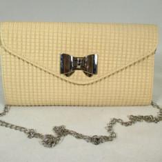 Plic/geanta dama bej cu fundita+CADOU, Culoare: Din imagine, Marime: Medie