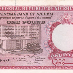 NIGERIA 1 pound ND (1967) XF+++!!! - bancnota africa