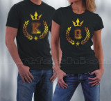Tricouri, Bluze > King & Queen, Bff, New York, Etc. Unisex > pretul la 1 bucata, Alb, Negru, L, M, S, XL, XXL