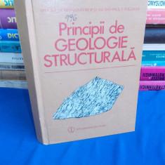 BRUCE E. HOBBS - PRINCIPII DE GEOLOGIE STRUCTURALA - 1988 - Carte Geografie