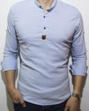 Camasa elastica - camasa slim fit - camasa bleu - camasa barbati