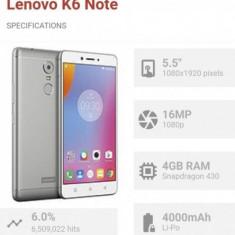 Lenovo K6 Note - Telefon mobil Lenovo, Negru, 32GB, Neblocat, Octa core, 3 GB