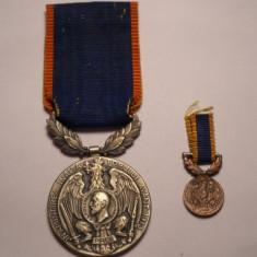 Set Medalia Avantul Tarii 1913 si Miniatura - Ordin
