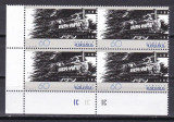 Armenia  1996  trenuri  locomotive  film  MI 285  bloc de 4   MNH  w47, Nestampilat
