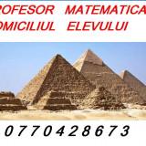 Matematica, orice zona, profesor.