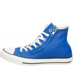 Tenesi Converse CT All Star Hi Double Zip Leather Trainers marimea 40 - Tenisi barbati Converse, Culoare: Albastru, Piele naturala