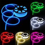Furtun iluminat LED neon flexibil, 8W/m, IP65, 24V, rola 10 m