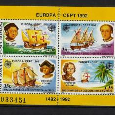 Romania MNH 1992 - Europa descoperirea Americii - LP 1282 - cel mai ieftin - Timbre Romania, Nestampilat