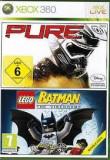 PURE + LEGO Batman the videogame - XBOX 360 [Second hand], Curse auto-moto, 3+, Multiplayer