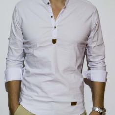 Camasa elastica - camasa slim fit - camasa barbati alba - camasa barbati