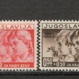 Iugoslavia.1938 Ajutor ptr. copii CA.484, Nestampilat