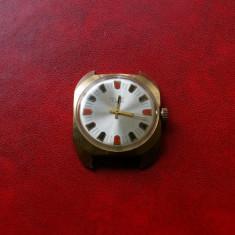 Ceas superb Poljot 17 rubine, placat cu aur 10 microni,, anii 70 - Ceas barbatesc Poljot, Mecanic-Manual