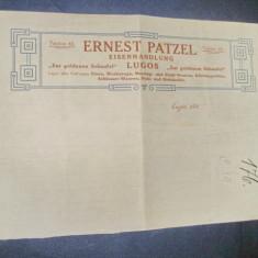 Ernst Patzel- Lugoj Reclama romaneasca veche de meserias stare buna.