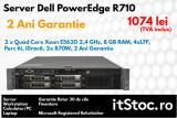 Dell PowerEdge R710, 2 x Quad Core Xeon E5620 2.4 GHz, 2 Ani Garantie-itStoc.ro